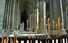 Free Interior Of A Cathedral In Reims. Royalty Free Stock Photography - 16531887