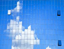 Highrise Glass Building With Sky Royalty Free Stock Image
