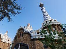 Park Guell Pavillion Royalty Free Stock Photo