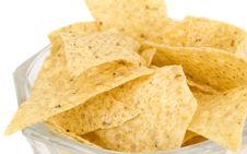Free Tortilla Chips Isolated On White Stock Photos - 16533763