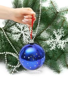Free Hand Holding Christmas Ball Stock Photos - 16533803