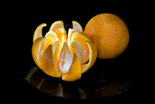 Free Two Tasty Fresh Oranges Stock Photography - 16533922