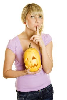 Free Shhhhhhhh Halloween Royalty Free Stock Photography - 16534457