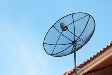 Free Satellite Dish On The Roof Royalty Free Stock Photography - 16534827