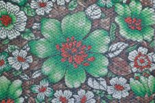 Free Thai Flower Pattern Fabric Royalty Free Stock Images - 16535289
