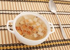 Free Chicken Broth With Egg And Breadcrumbs Royalty Free Stock Photos - 16535558