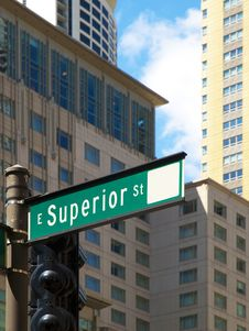 Free Superior Street Sign, Chicago Royalty Free Stock Photography - 16536107