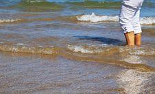 Free Woman Legs In The Sea Stock Photo - 16536140