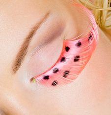 Free Pink Eye Make-up With False Eyelashes Stock Photos - 16536163