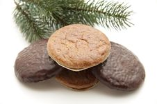 Free Nut And Chocolate Gingerbread Stock Image - 16537011