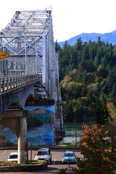 Free Bridge Of The Gods Sideview, Oregon. Royalty Free Stock Photos - 16537118