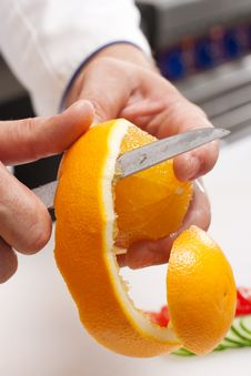 Free Peeling Off Orange Stock Photography - 16537802