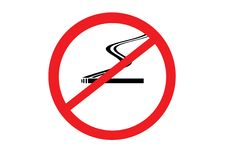 No Smoking Sign Isolated Royalty Free Stock Image