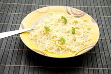 Free Noodle Soup With Parsley Royalty Free Stock Photography - 16538087