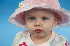 Free Baby In A Hat. Royalty Free Stock Image - 16538326