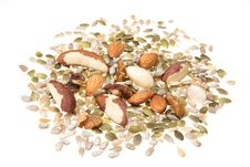 Free Nut And Seed Selection Stock Image - 16539001