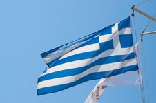 Free Greek Flag Stock Image - 16539231