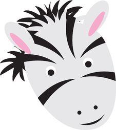 Free Cartoon Zebra Face Stock Photography - 16539232