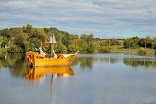Wooden Sailing-vessel Stock Photos