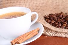Free Cup Of Coffee With Cinnamon Royalty Free Stock Photos - 16539478