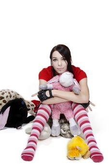 Free Girl With Toy Royalty Free Stock Photography - 16539887