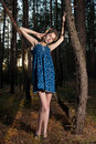 Free Teen Girl In A Pine Forest Stock Photo - 16544070