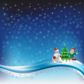 Free Christmas Greeting Snowman And Dwarf Royalty Free Stock Photography - 16545807