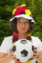 Free Female Soccer Fan Stock Image - 16547121