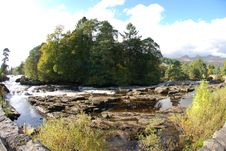 Fisheye View Of River Dochart Stock Photography