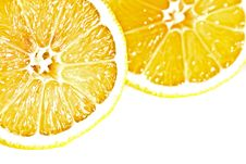 Free Two Lemons Cross Section Stock Photography - 16540612