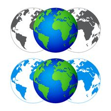 Free Globe On A Blue Background. Vector Illustration. Stock Images - 16540724