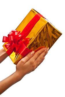 Free Woman Holding Gift Box Royalty Free Stock Photos - 16540918