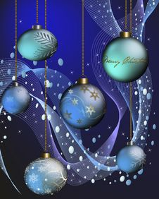 Free Blue Christmas Stock Image - 16541241