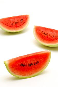 Free Slices Of Watermelon Isolated Stock Photos - 16541463