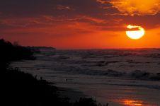 Free Sunrise On Sea Beach Stock Image - 16542311