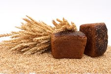 Free Bread With Wheat And Ears Royalty Free Stock Image - 16542396