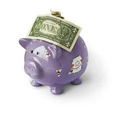 Piggy Moneybox With Money Stock Images