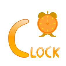 Free Funny Alphabet Clock Royalty Free Stock Images - 16542699