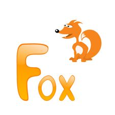 Free Funny Alphabet Fox Royalty Free Stock Photos - 16542708