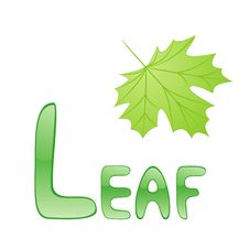 Free Funny Alphabet Leaf Stock Images - 16542714