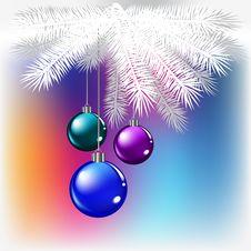 Free Christmas Balls Royalty Free Stock Photo - 16543235