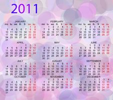 Free Calendar 2011 Stock Photography - 16543372