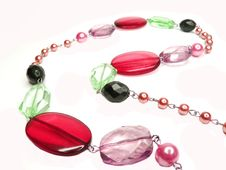 Free Red Purple Colored Beads Royalty Free Stock Photos - 16544268