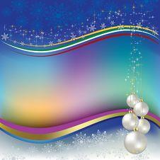 Free Christmas Greeting Pearl Balls Stock Images - 16544454