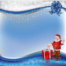 Free Christmas Greeting Santa Claus With Gift Stock Photography - 16544752