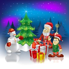 Christmas Greeting Santa Claus Royalty Free Stock Images