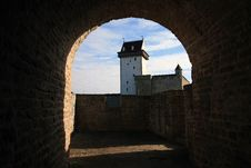 Old Fortress In The City Of Narva Royalty Free Stock Photo
