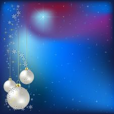 Free Christmas Greeting With Balls Royalty Free Stock Photos - 16545478