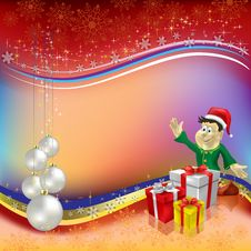 Free Christmas Greeting With Parl Balls Stock Photos - 16545513