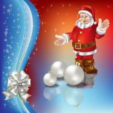 Free Christmas Greeting With Santa Claus Royalty Free Stock Photos - 16545628